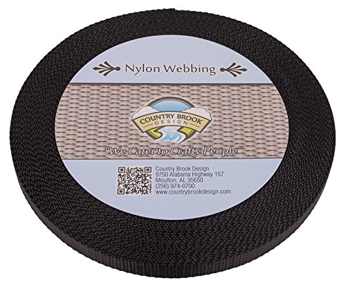 Bulk Nylon Strap (1/2 Inch Heavy Black Nylon Webbing, 10 Yards)