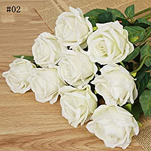 ink2055 Artificial Flowers Wedding Props,1Pc Artificial Fake Rose Flower for Garden Home Wedding Bridal Party Decoration - 3# 69