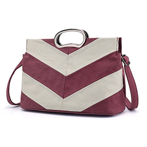 Satchel Shoulder Striped Bag capacity Casual Shopping Large Retro Canvas Womens Afcity Handbags Commuter Purses Tote Handbag nfWROC6