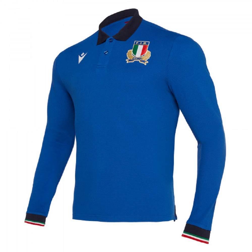 Macron Polo Italia Rugby Fir - Polo de Manga Larga - 58100103 ...
