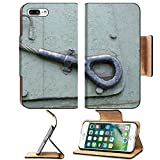 MSD Premium Apple iPhone 7 Plus Flip Pu Leather Wallet Case Metal wire welding tank war military green element old vintage rust transport mount IMAGE 23837427