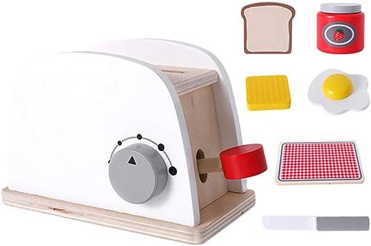 Yeshai3369 Juego De Imaginación para Niños Máquina para Hacer Pan De Madera Cafetera Licuadora Juego De Cocina para Niños Máquina para Hacer Pan: Amazon.es: Juguetes y juegos