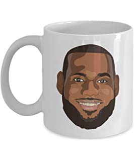 ea46ed3635d MyFaveGift Lebron James Cartoon Hot Coffee Mug King James LABRON Basketball  Birthday Graduation Office Gift 11oz
