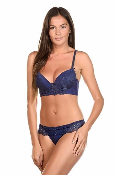 Just For Victoria - Conjunto de lencería - para mujer azul azul