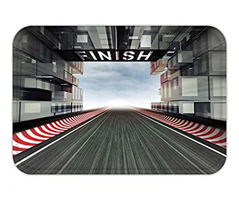 Beshowere Doormat finish panel above racetrack in modern city space illustration - Multi Persian Panel