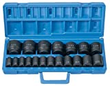 Grey Pneumatic (1319) 1/2'' Drive 19-Piece Standard Length Fractional Master Socket Set