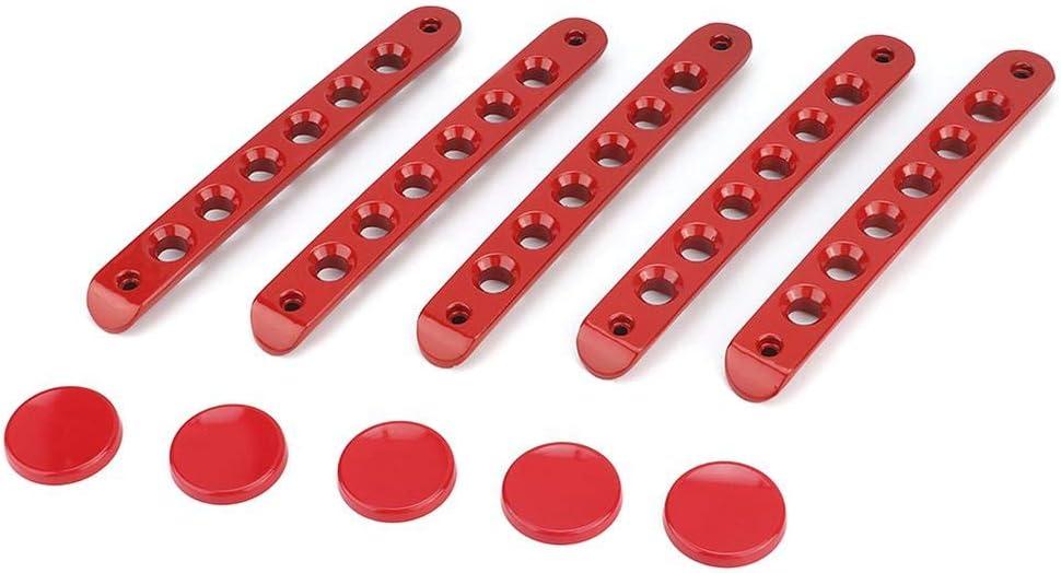 Qii lu Coperchio della barra della maniglia della portiera dellauto protezione della protezione della copertura adatta per Wrangler JK 2007-2018 maniglia della porta esterna dellauto rosso