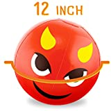 Beach Ball Set with Emoji Faces: Unique Pool & Birthday Party Gifts or Favors for Kids & Teens: 12 Balls, 6 Funny Emojies