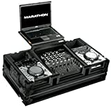 Marathon Professional MA-CDJ12WLTBLK Flight Road Case Holds 2x Small Format CD Players with Low Profile Wheels