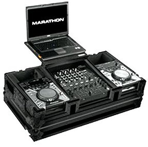 (Marathon Professional MA-CDJ12WLTBLK Flight Road Case Holds 2x Small Format CD Players with Low Profile Wheels )