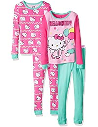 Big Girls Balloon 4 Piece Cotton Sleepwear Set