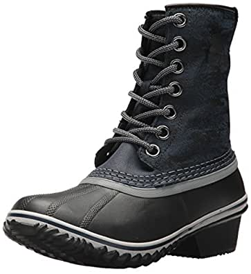SOREL Women's Slimpack 1964 Snow Boot, Collegiate Navy, Black, 10 M US
