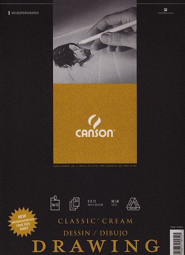 Canson 18-Inch by 24-Inch Classic Cream Drawing Paper Pad, 24-Sheet by Canson