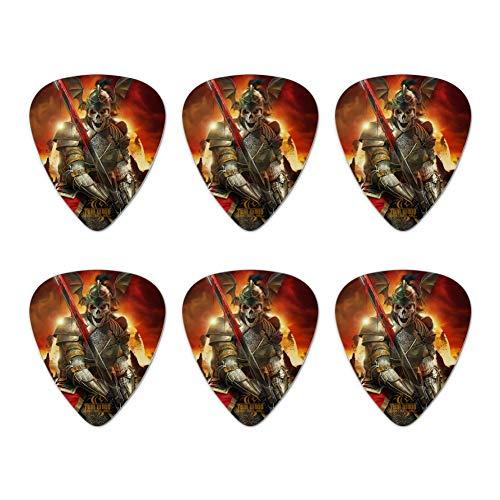 Undead Skeleton Knight Warrior Fantasy Novelty Guitar Picks Medium Gauge - Set of 6
