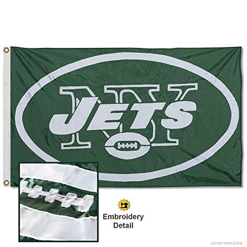 New York Jets Embroidered Nylon Flag