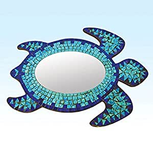 Mosaic Sea Turtle Mirror Wall Hanging