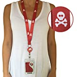 Red Cruise Lanyard on Woman