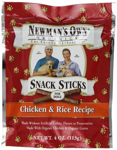 Newman's Own Organic Dog Snack Sticks, Chicken & Rice, 4 oz