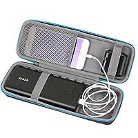 Estuche rígido Baval Compatible con Anker PowerCore 26800 Cargador portátil 26800mAh Banco de energía de batería externa Se adapta a USB Calbe, cargador de pared y cargador de automóvil