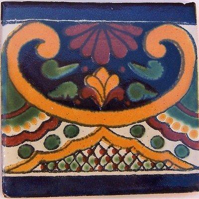 Amazon.com: 2 x 2 36 Pcs Greca C mexicano de Talavera Tile ...