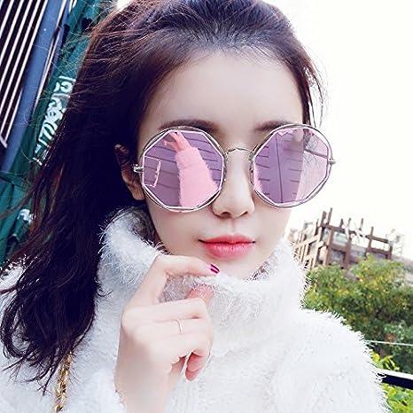 Die neue Sunyan ausgesetzt runde Sonnenbrille Frau tide Augen der rote Stern, ein rundes Gesicht, Sonnenbrille langes Gesicht Brille, eine schwarze Patrone + den Spiegel.