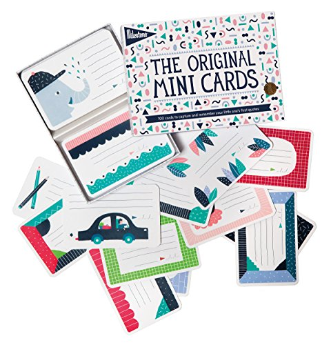 Mini Mmc Card - Milestone - Mini Photo Cards - Set of 100 Photo Cards to Capture Your Child's First Words and Quotes