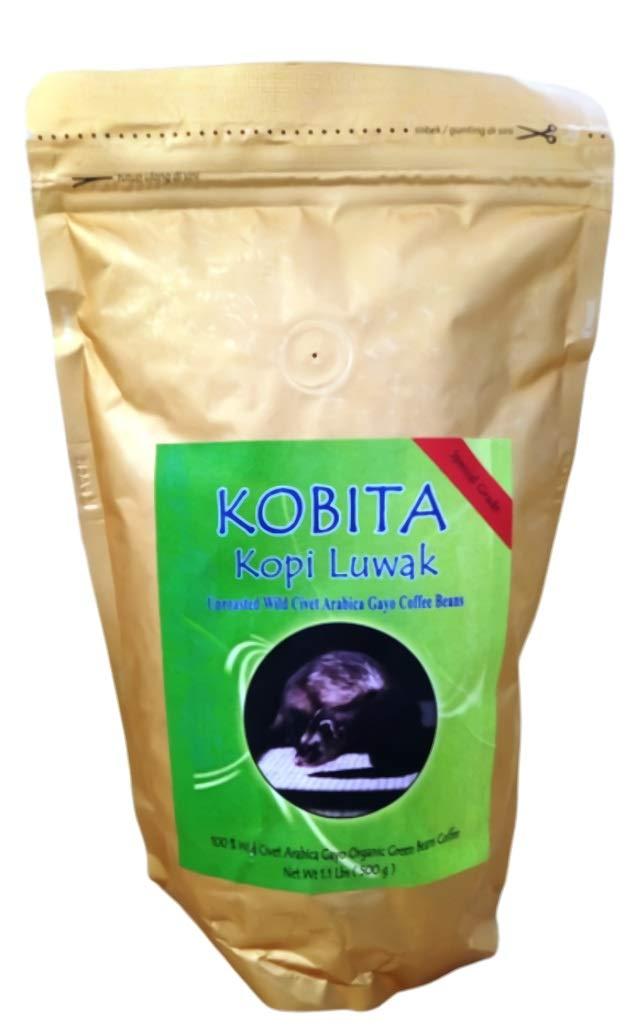 Kopi Luwak Unroasted Wild Civet Arabica Gayo Coffee Beans, 1.1 lb