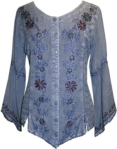 102 B Gypsy Medieval Renaissance Top Blouse (2X; Lilac C)