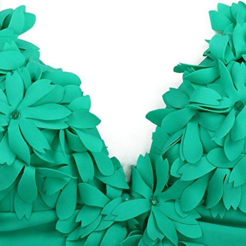Strass One Padded Costumi Verde Interi Bagno Monokini Donna Up Piece Push Da Costume Swimsuit Colloyes Pn5fwvvq