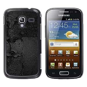 TopCaseStore / la caja del caucho duro de la cubierta de protección de la piel - Black Texture - Samsung Galaxy Ace 2 I8160 Ace II X S7560M