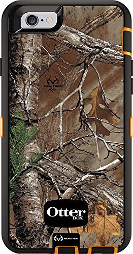 OtterBox DEFENDER iPhone 6/6s Case REALTREE XTRA BLAZE ORANGE/BLACK W/XTRA CAMO (Case Only - Holster Not Included)