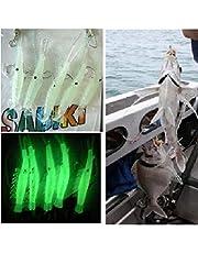 yuangong Excelente Langostino Aparejos Brilla en la Oscuridad Cebos Anzuelos de Pesca Catch Ganchos Lubina de Mar para Camping, Picnic y Otras Actividades Al Aire Libre - 1