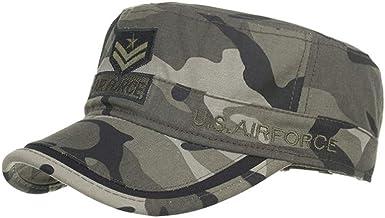 TWIFER Gorras de algodón Lavado Caps Militares Cadete Diseño único ...