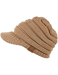 CC Exclusives Women's Ribbed Knit Hat with Brim (YJ-131)