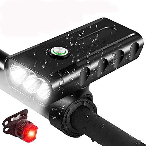 Lampe torche de v/élo T6 L2 2400 lumens LED avec support de fixation USB pour phare avant de v/élo T6 3 LED 2400 mAh