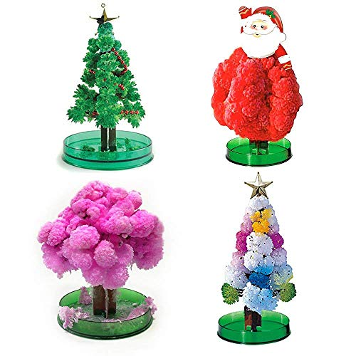 4PC Magic Growing Crystal Christmas Tree Kids Creative Birthday Gift Educational Novelty Games Toy]()
