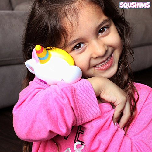 The Original Squishies By Squshums Super Slow Rising, Fruit Scented Jumbo Squishys : 1 Pc Blind Bag : Collect All 5 : Unicorn, Airplane, Heart Cat, Strawberry Cake & Elephant : FREE Carrying Case! Photo #8