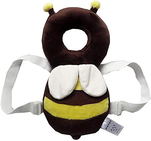 Infant Toddler Straps Head Pillow Vuffuw Baby Shatter-Resistant Headrest Cute Wing Toddler Head/Safety/Cushion Baby Back Protection Pad
