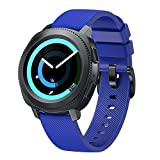 Sinma New Fashion Sports Silicone Replacement Bracelet Watch Strap Band for Samsung Gear S3 Frontier (Blue)