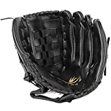 ADiPROD PU Leather Left Hand Baseball Glove, Medium (11.5) - Black