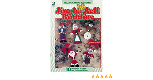 Jingle Bell Buddies ~  plastic canvas soft cover book ~  House of White Birches ~ New Condition