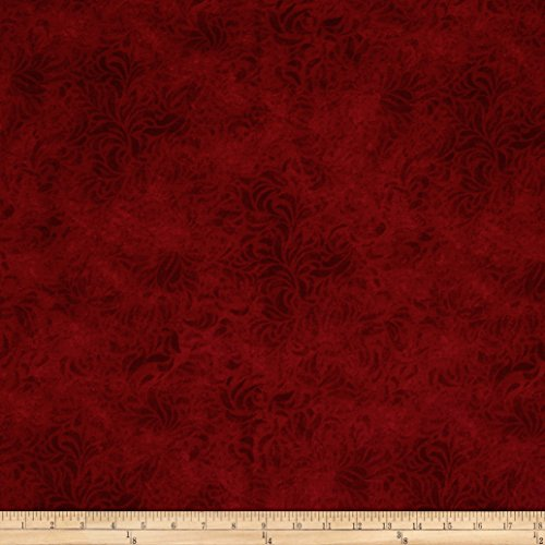 110in Wide Quilt Back Bella Suede Red Fabric By The Yard -  P & B Textiles, BELW-460-D