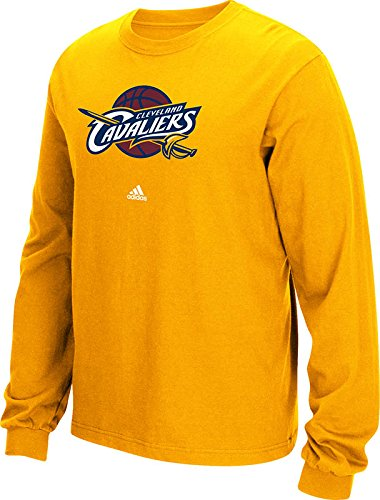 NBA Cleveland Cavaliers Men's Full Primary Logo Long Sleeve Tee, Medium, Gold