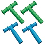 Chewy Tubes Teether, 4 Pack - Green/Blue