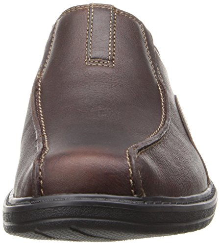 Clarks Sherwin Tiempo Resbalón-en Mocasín Brown Tumbled Leather