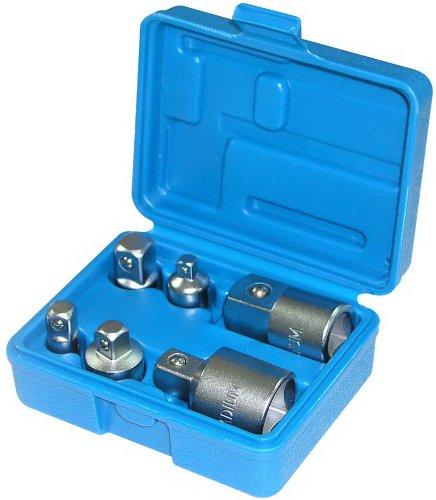 6 x Adaptersatz Reduzierstü ck Schraubenschlü ssel-Einsatz 1/4' 3/8' 1/2' und 3/4 (VERBINDUNGSSTÜ CK/Ü BERGANGSTEIL) fü r Knarren und Ratschen - Chrom-Vanadium-Stahl Alkan