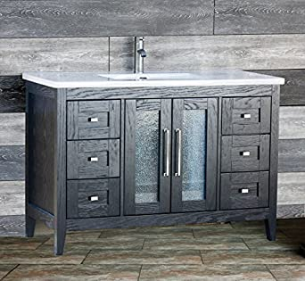 Beautiful Bathroom Suppliers London Ontario Tiny Hollywood Glam Bathroom Decor Clean Wash Basin Designs For Small Bathrooms In India Bathroom Lighting Sconces Brushed Nickel Youthful Bathrooms Designs Pinterest PurpleKitchen Bath Design Center Bedford ELIMAX\u0026#39;S MO 4821CT Bathroom Vanity Cabinet Top Sink   48   Inch ..