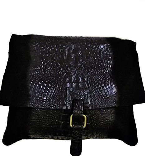 sac cuir,sac cuir long larniére,sac courte de cuir raba avec pompon,sac cuir porté épaule Noir