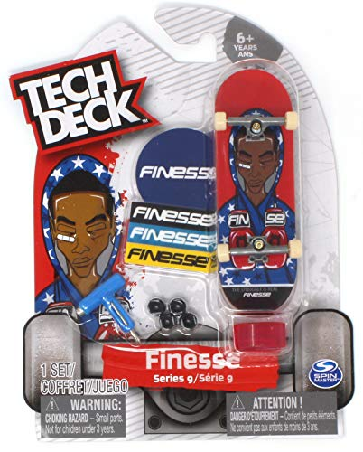 Tech Deck Finesse Skateboards Series 9 Steve James The Struggle is Real - Deck Display Tech