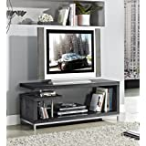 Weathered Grey Finish TV LCD Plasma Entertainment Center Stand